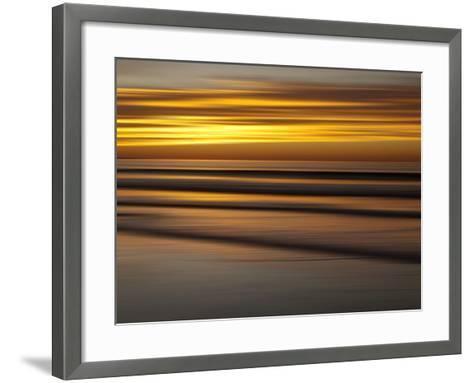 USA, California, La Jolla, Abstract of Incoming Waves at Sunset-Ann Collins-Framed Art Print