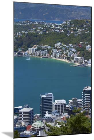Cbd, Wellington Harbour and Oriental Bay, Wellington, North Island, New Zealand-David Wall-Mounted Photographic Print