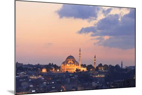 Suleymaniye Mosque. Istanbul. Turkey-Tom Norring-Mounted Photographic Print