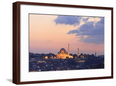 Suleymaniye Mosque. Istanbul. Turkey-Tom Norring-Framed Art Print