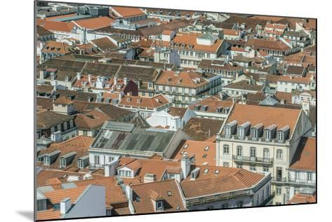 Portugal, Lisbon, Baixa Rooftops from Sao Jorge Castle-Rob Tilley-Mounted Photographic Print