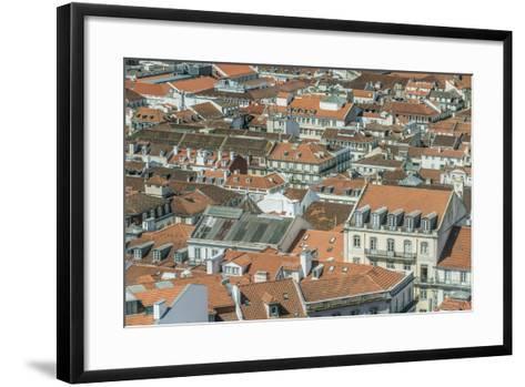 Portugal, Lisbon, Baixa Rooftops from Sao Jorge Castle-Rob Tilley-Framed Art Print