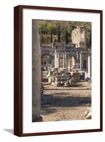 Turkey, Izmir, KUSAdasi. the Ruins of Ephesus-Emily Wilson-Framed Art Print