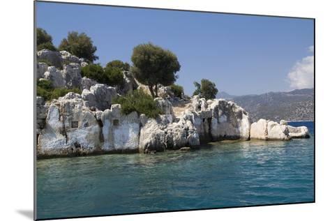 Turkey, Kas, Kekova, Dolichiste, Is a Small Turkish Island Near Demre District of Antalya Province-Emily Wilson-Mounted Photographic Print