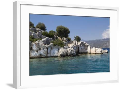 Turkey, Kas, Kekova, Dolichiste, Is a Small Turkish Island Near Demre District of Antalya Province-Emily Wilson-Framed Art Print