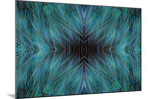 Blue, Bird of Paradise Feathers-Darrell Gulin-Mounted Photographic Print