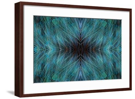 Blue, Bird of Paradise Feathers-Darrell Gulin-Framed Art Print