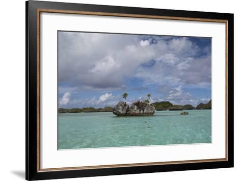 Fiji, Island of Fulanga. Lagoon Inside Volcanic Caldera-Cindy Miller Hopkins-Framed Art Print