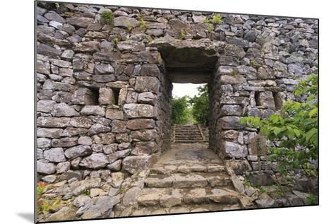 The Stone Entrance to Nakijin Castle, a 14th Century Castle in Okinawa, Japan-Paul Dymond-Mounted Photographic Print