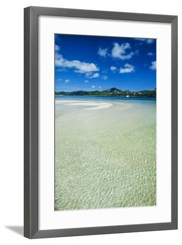 Turquoise Water at the Nanuya Lailai Island, the Blue Lagoon, Yasawa, Fiji, South Pacific-Michael Runkel-Framed Art Print