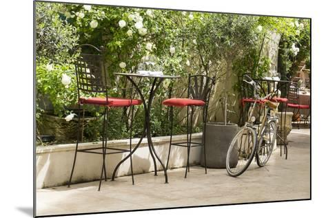 Southern France, St. Remy. Sidewalk Cafes-Emily Wilson-Mounted Photographic Print