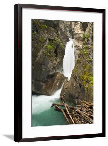 Johnston Falls and Creek, Johnston Canyon, Banff National Park, Alberta, Canada-Michel Hersen-Framed Art Print