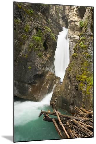 Johnston Falls and Creek, Johnston Canyon, Banff National Park, Alberta, Canada-Michel Hersen-Mounted Photographic Print