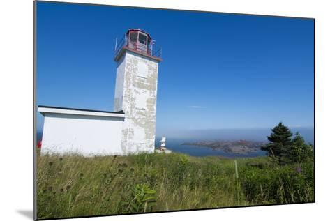 Martins, New Brunswick, White Old Traditional Historic Lighthouse Ion Water with Fields on Cliff-Bill Bachmann-Mounted Photographic Print