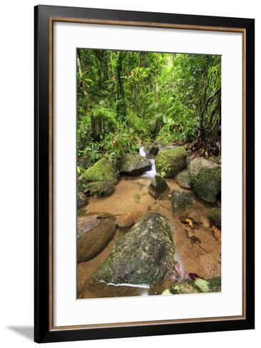 Josephine Falls Is One of the Most Popular Sets of Waterfalls on the South Side of Cairns-Paul Dymond-Framed Art Print