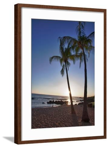 USA, Kauai, Evening Light on the Westside of Kauai-Terry Eggers-Framed Art Print