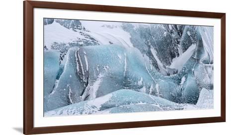 Svinafellsjoekull Glacier in Vatnajokull During Winter. Glacier Front and Icefall-Martin Zwick-Framed Art Print