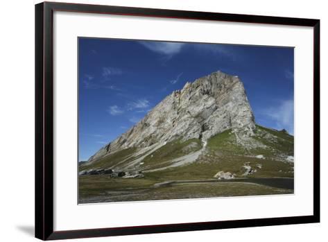 Svalbard, Hornsund, Sor-Spitsbergen National Park, Gnalodden. View of Gnalberget Mountain-Aliscia Young-Framed Art Print