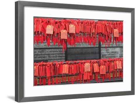 Prayer Tags, Foshan Ancestral Temple, Foshan, Near Guangzhou China-Stuart Westmorland-Framed Art Print