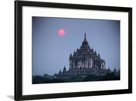Myanmar, Bagan. Sunset on Thatbyinnyu Temple-Jaynes Gallery-Framed Art Print