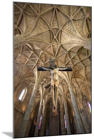 Portugal, Lisbon. Cathedral Inside Jeronimos Monastery-Jaynes Gallery-Mounted Photographic Print