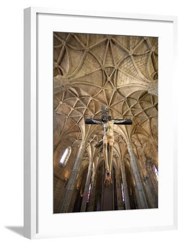 Portugal, Lisbon. Cathedral Inside Jeronimos Monastery-Jaynes Gallery-Framed Art Print