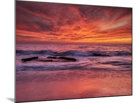 USA, California, La Jolla. Sunset at North End of Windansea Beach-Ann Collins-Mounted Photographic Print