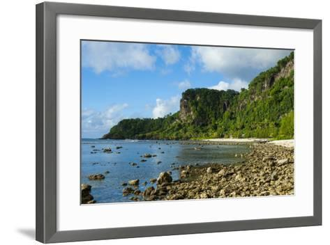 Pretty Bay and Turquoise Water in Tau Island, Manuas, American Samoa, South Pacific-Michael Runkel-Framed Art Print
