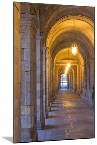 Spain, Santiago. Archways and Door Near the Main Square of Cathedral Santiago De Compostela-Emily Wilson-Mounted Photographic Print