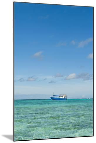 Fishing Boat in the Turquoise Waters of the Blue Lagoon, Yasawa, Fiji, South Pacific-Michael Runkel-Mounted Photographic Print