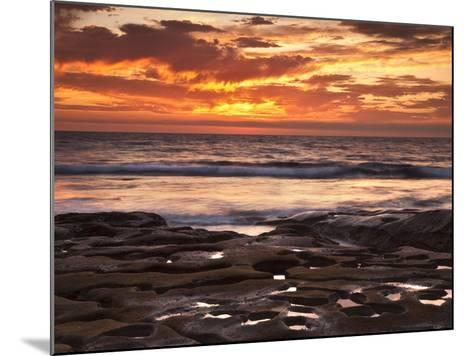 USA, California, La Jolla. Sunset over Tide Pools at Coast Blvd. Park-Ann Collins-Mounted Photographic Print
