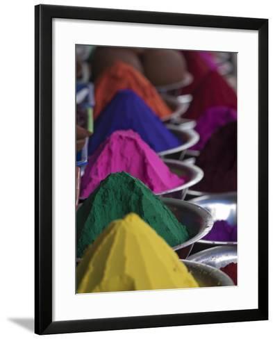 Holi Powder Paint for Sale in Mysore, Karnataka, India-David H^ Wells-Framed Art Print