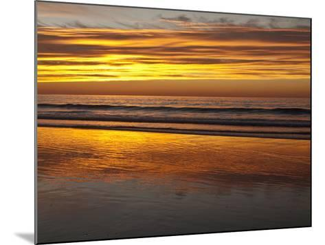 USA, California, La Jolla. Sunset Reflected on Beach at La Jolla Shores-Ann Collins-Mounted Photographic Print