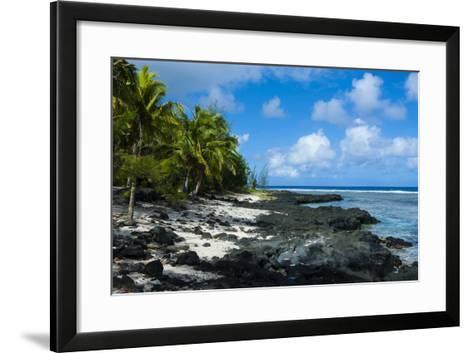 Rocky Beach in Tau Island, Manuas, American Samoa, South Pacific-Michael Runkel-Framed Art Print