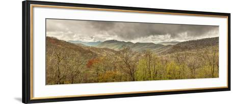 USA, North Carolina, Cherokee, Panoramic View from the Blue Ridge Parkway-Ann Collins-Framed Art Print