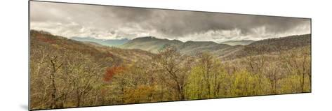 USA, North Carolina, Cherokee, Panoramic View from the Blue Ridge Parkway-Ann Collins-Mounted Photographic Print