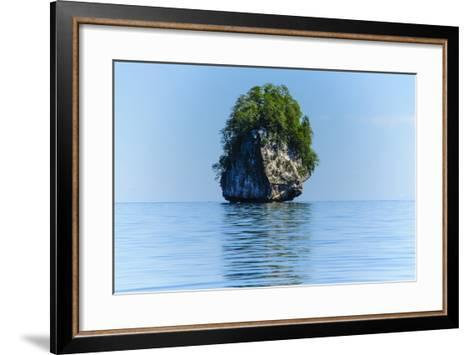 Rocky Outcrops in the Bacuit Archipelago, Palawan, Philippines-Michael Runkel-Framed Art Print
