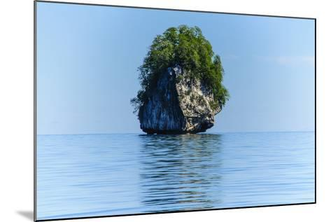 Rocky Outcrops in the Bacuit Archipelago, Palawan, Philippines-Michael Runkel-Mounted Photographic Print