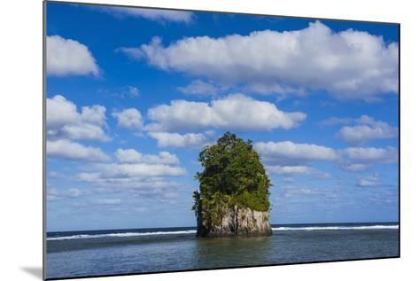 Single Rock at Coconut Point in Tutuila Island, American Samoa, South Pacific-Michael Runkel-Mounted Photographic Print