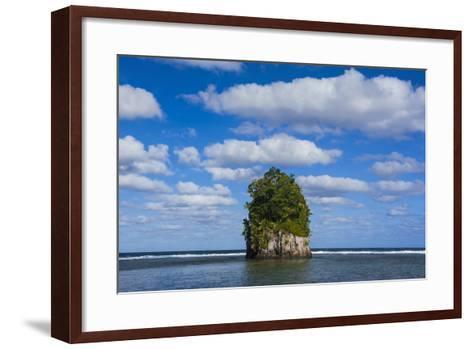 Single Rock at Coconut Point in Tutuila Island, American Samoa, South Pacific-Michael Runkel-Framed Art Print