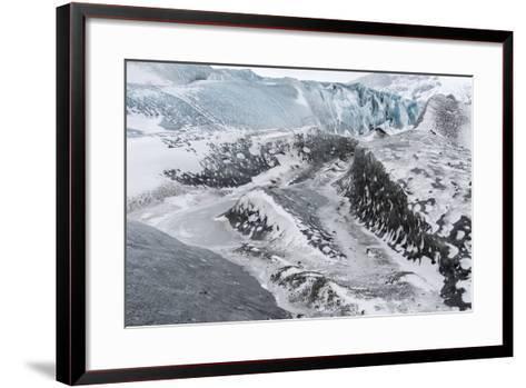 Skaftafelljokull Glacier in Vatnajokull During Winter-Martin Zwick-Framed Art Print