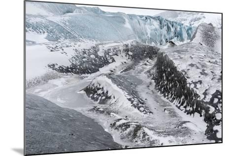 Skaftafelljokull Glacier in Vatnajokull During Winter-Martin Zwick-Mounted Photographic Print