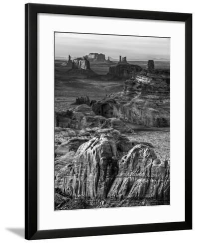 USA, Arizona, Monument Valley. Sunset View from Hunt's Mesa-Ann Collins-Framed Art Print