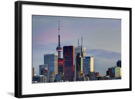 Toronto Skyline at Dusk-Brad Smith-Framed Art Print