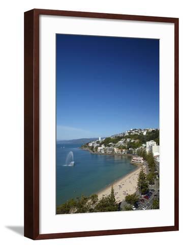 Fountain, Oriental Bay, Wellington, North Island, New Zealand-David Wall-Framed Art Print