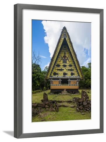 Old Bai, Chief's House the Island of Babeldaob, Palau, Central Pacific-Michael Runkel-Framed Art Print