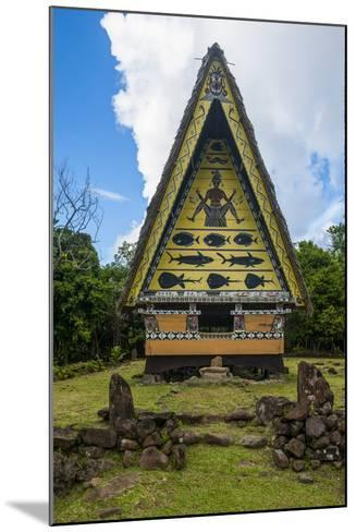 Old Bai, Chief's House the Island of Babeldaob, Palau, Central Pacific-Michael Runkel-Mounted Photographic Print