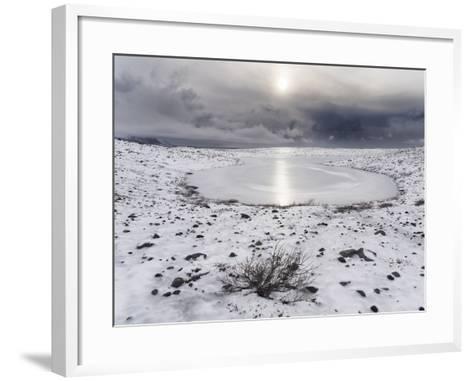 Skaftafelljokull Glacier with its Glacial Moraine in Vatnajokull During Winter-Martin Zwick-Framed Art Print