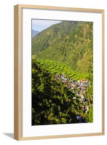 Along the Rice Terraces from Bontoc to Banaue, Luzon, Philippines-Michael Runkel-Framed Art Print