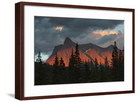 Alpenglow, from Kicking Horse River, British Columbia, Canada-Michel Hersen-Framed Art Print